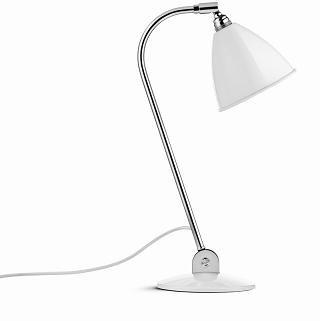 Bordlampe BL2, krom/hvid - BestLite