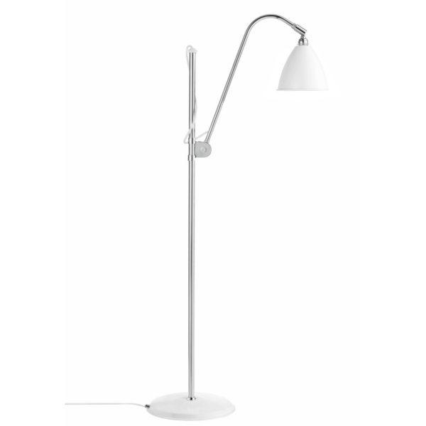 Gulvlampe BL3S, krom/hvid - BestLite