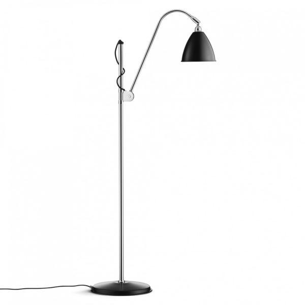 Gulvlampe BL3S, krom/sort - BestLite