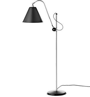 Gulvlampe BL3 Original shade, Sort/Krom - BestLite