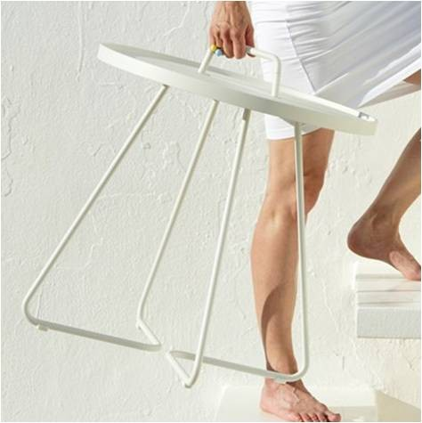 On-The-Move tabel taupe stor - Cane-Line