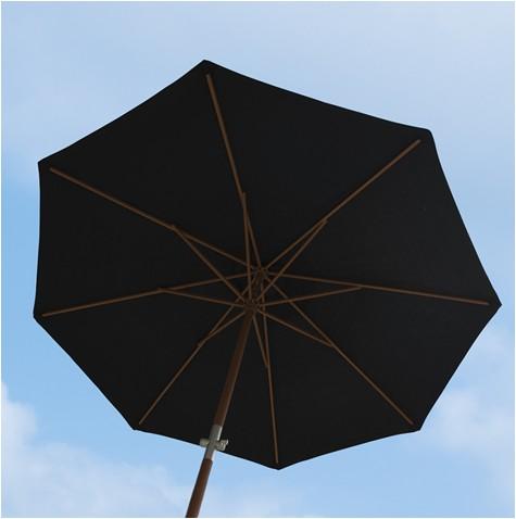 Aberdeen parasol m.crank dia. 3m. Sort - Cane-Line