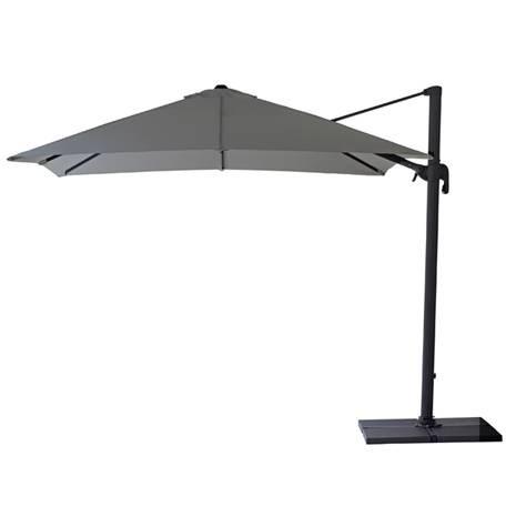 Hyde sidehængt parasol 3 x 3 m. inkl. fod Antracit - Cane-Line