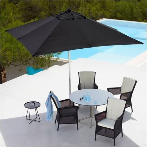Oban parasol 3 x 3 m. Sort - Cane-Line