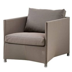 Diamond lounge stol brun inkl. hynde - Cane-Line