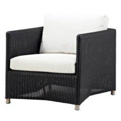 Diamond lounge stol grafit inkl. hynde - Cane-Line