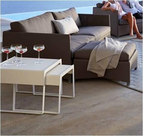 Diamond sofa 2 pers. brun inkl. hynde - Cane-Line