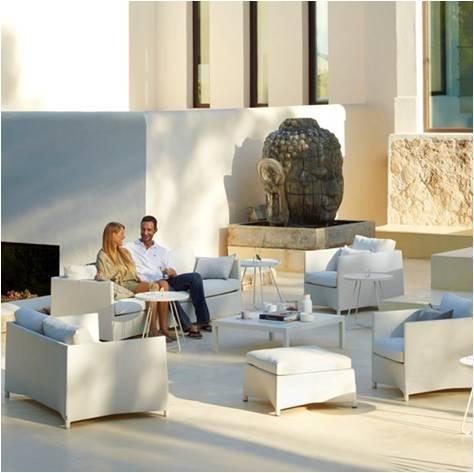 Diamond sofa 2 pers. hvid inkl. hynde - Cane-Line