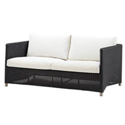 Diamond sofa 2 pers. grafit inkl. hynde - Cane-Line