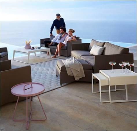 Diamond sofa 3 pers. brun inkl. hynde - Cane-Line