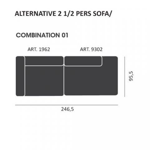 Mags modul Sofa kombi: 01 - Hay