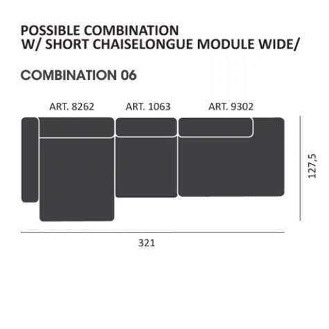 Mags modul Sofa kombi: 06 - Hay