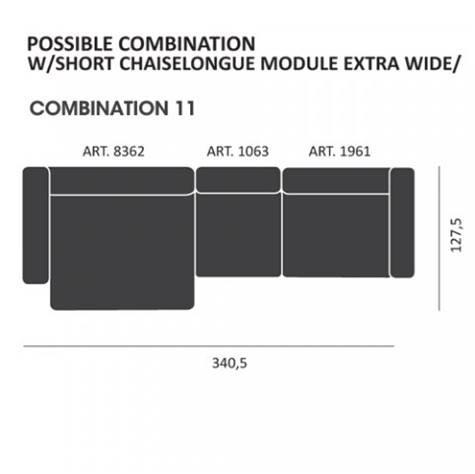 Mags modul Sofa kombi: 11 - Hay