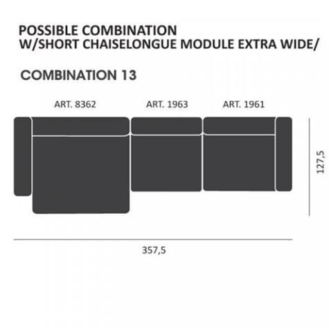 Mags modul Sofa kombi: 12 - Hay