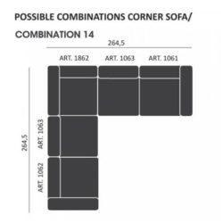 Mags modul Sofa kombi: 14 - Hay