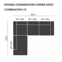 Mags modul Sofa kombi: 15 - Hay