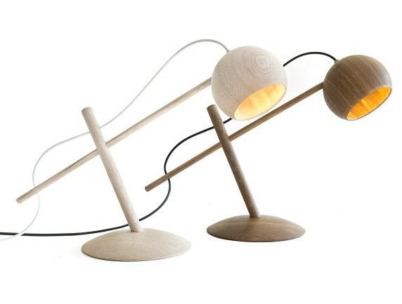 Luna Lamp Eg sæbebehandlet