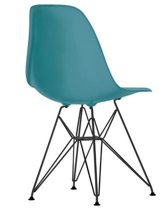 Eames Plastic Chair (DSR) - Sort stel