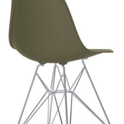 Eames Plastic Chair (DSR) - Umbragrå