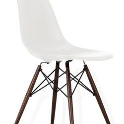 Eames stol (DSW) - Mørkbejdset - Hvid