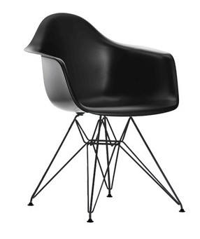 Eames Plastic Chair (DAR) - Sort stel
