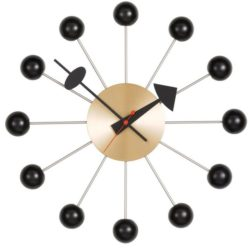 Vitra - Ball Clock - sort messing (vægur)
