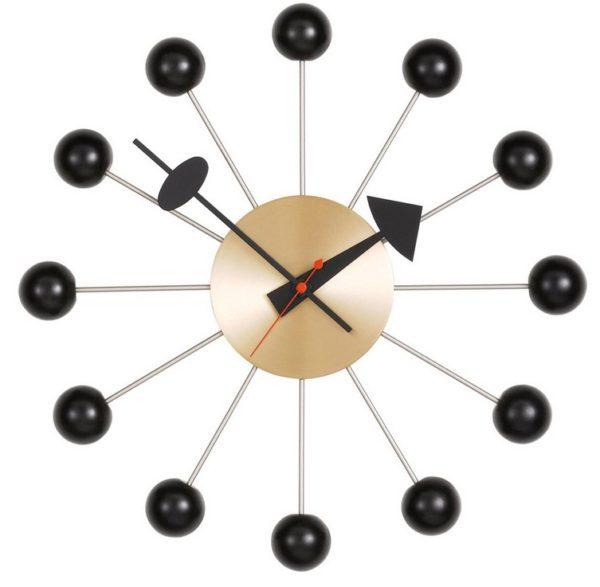 Vitra - Ball Clock - sort messing (vægur)