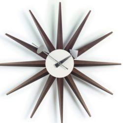 Vitra - Sunburst Clock - valnød - (vægur)