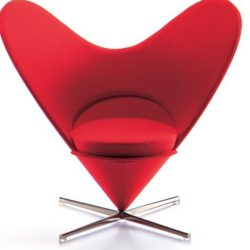 Heart-shaped cone chair (Miniature)