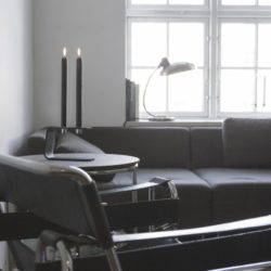 Sein Lysestage Vinkel 4 - Inkl. 4 gratis manchetter sort krom