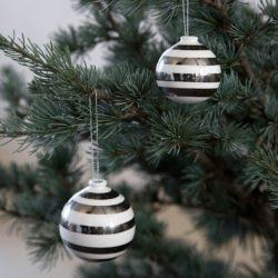 Omaggio julekugler sølv 3-pak