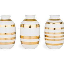 Omaggio vaser guld miniature 3-pak