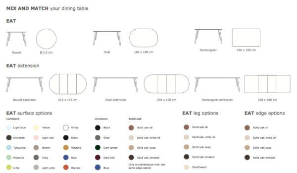 Eat spisebord ovalt solid - Via CPH
