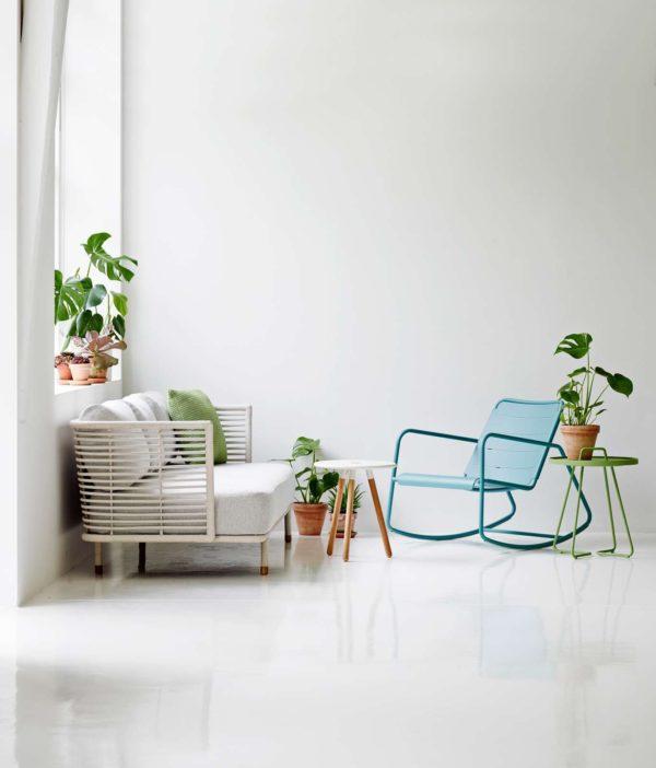 Cane-Line - Sense 3 pers. sofa - Hvid