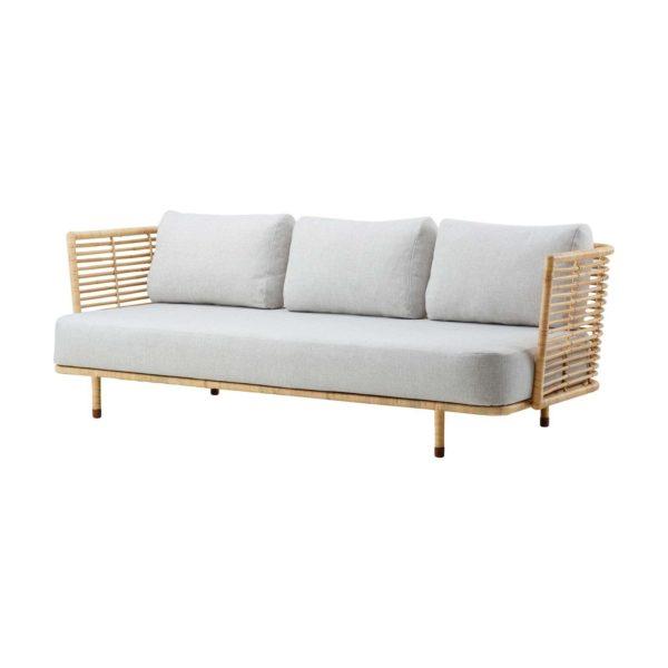 Cane-Line - Sense 3 pers. sofa - Natur