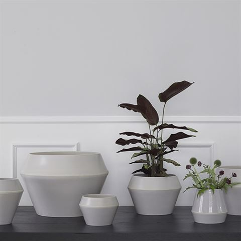 By Lassen - Rimm flowerpot, small - Cool grey