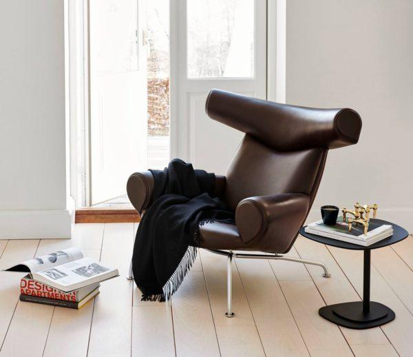 OX-Chair i mørk læder