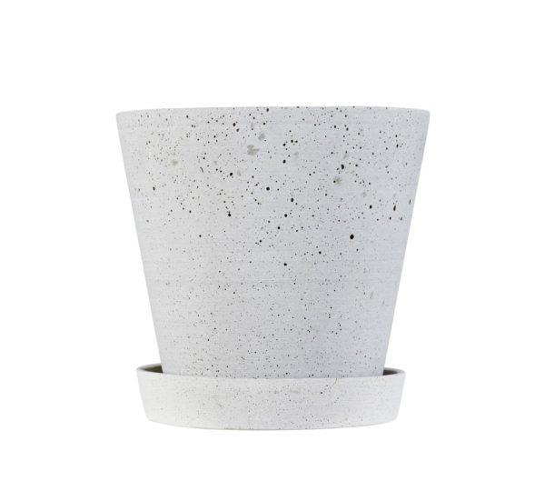Hay - Flowerpot with Saucer - grå (X-large)